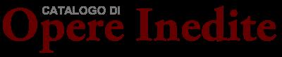 Catalogo di Opere Inedite – Nuovi Scrittori